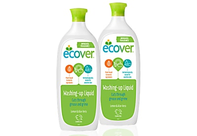 Ecover Liquide Vaisselle Citron & Aloe Vera DUO PACK