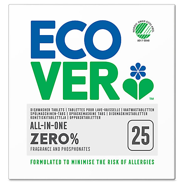 Ecover Zero Tablettes Lave-vaisselle All in One (25 tablettes)
